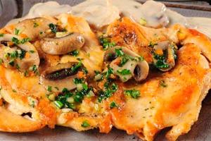 Оригинальные рецепты курицы сгрибами вдуховке— ссыром, шампиньонами, картошкой